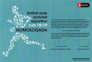 Homologació Ibe 2019
